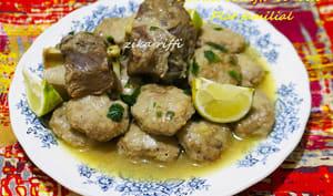 Tajine de kefta sauce blanche au safran