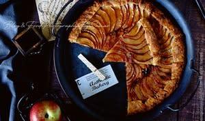 Tarte aux pommes fine et rustique