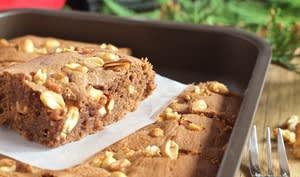 Brownie Chocolat-Cacahuètes