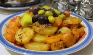 Entrée chaude de pommes de terre et carottes