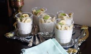 Mousse de banane et fromage blanc au citron vert