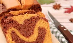 Cake marbré potiron chocolat