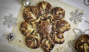 Brioche flocon à la pâte à tartiner
