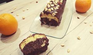 Cake chocolat orange et noisette
