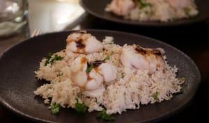Joues de raies sauce pamplemousse et soja riz vapeur