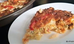 Quiche chou, lardons et mozzarella