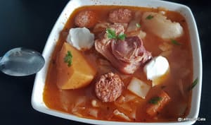 Soupe au chou sans pommes de terre