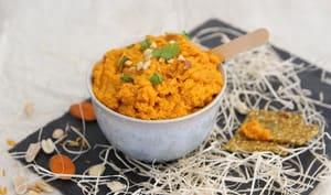 Tartinade carotte, gingembre, orange et cacahuète