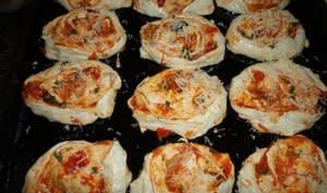 Pizza roulée aux anchois