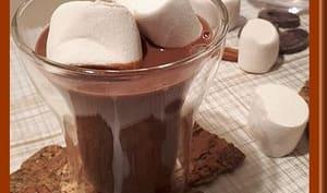 Chocolat chaud à la cannelle et guimauve