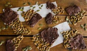 Croquants graines courge chocolat