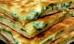 Galette feuilletée farcie fromage et herbes