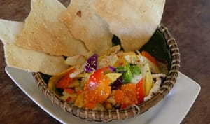 Salade vietnamienne aux fruits de mer