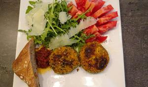 Croquettes de courge Mantova aux deux sauces