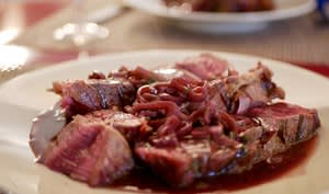 Côte de bœuf sauce vigneronne