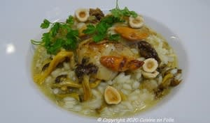 Risotto de Saints Jacques et chanterelles