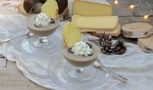 Velouté de cèpes, chantilly de fromage à raclette façon capuccino