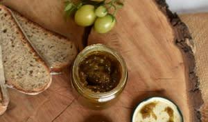 Confiture de tomate verte citron cardamome ou pain d'épice
