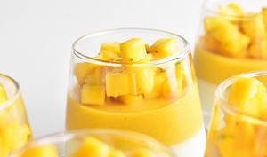 Verrine de mousse de mangue