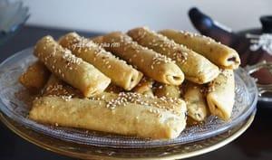 Cigares au miel noix et. pâte de dattes