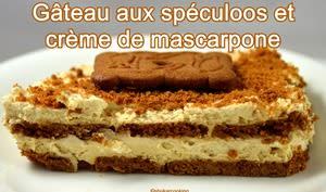 Gâteau sans cuisson, aux spéculoos et crème mascarpone