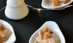 Bouchée apéritive foie gras et poires