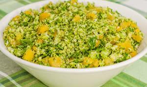 Taboulé de brocolis au poivron