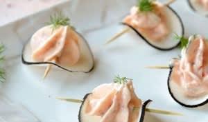 Bouchée de radis noir au saumon