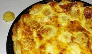 Tarte aux pommes duchesse et aux 4 fromages