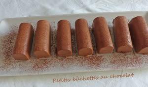 Petites bûchettes au chocolat