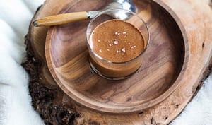 Mousse au chocolat au lait et chocolat noir