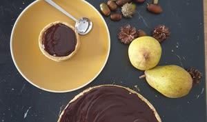 Tarte poire chocolat vegan -
