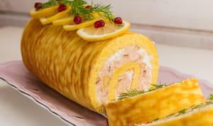 Bûche salée au saumon et à la ricotta