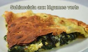 Schiacciata sicilienne aux légumes verts