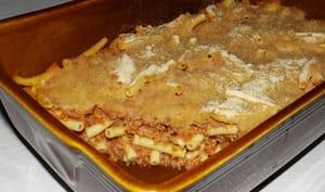 Gratin de macaroni à la bolognaise express