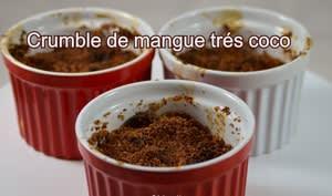 Crumble de mangues très coco