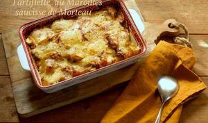 Tartiflette au maroilles et saucisse de Morteau