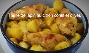 Tajine de cuisses de lapin au citron confit