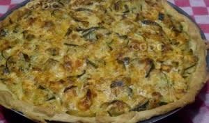 Tarte courgettes saumon frais et chorizo