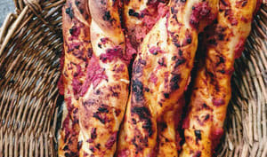 Ficelles pizzaiola à l'excès de levain