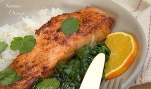 Pavés de saumon laqué à l'orange