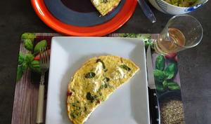 Omelette corse à la brousse et à la menthe