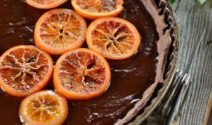Tarte au chocolat et à l'orange sanguine
