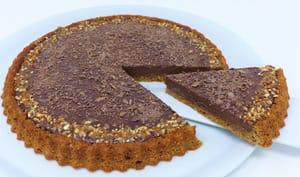 Tarte renversée au chocolat et son caramel à la noisette