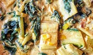 Curry de blettes et poireaux