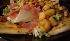 Salade de pommes de terre, bacon, Vache qui rit