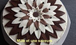 3 chocolats sur brownie noisette et croustillant praliné