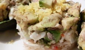 Salade mimosa d'avocat et sardines