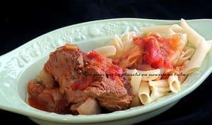 Jarret de bœuf à la tomate