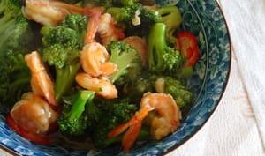 Brocoli aux crevettes à la chinoise